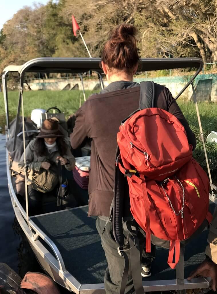 Mit dem Cima di Basso auf Mokoro Tour im Okavangodelta