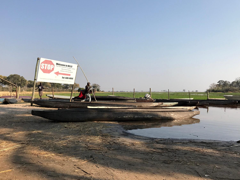Mokoro Boat Station NG32 im Okavango Delta