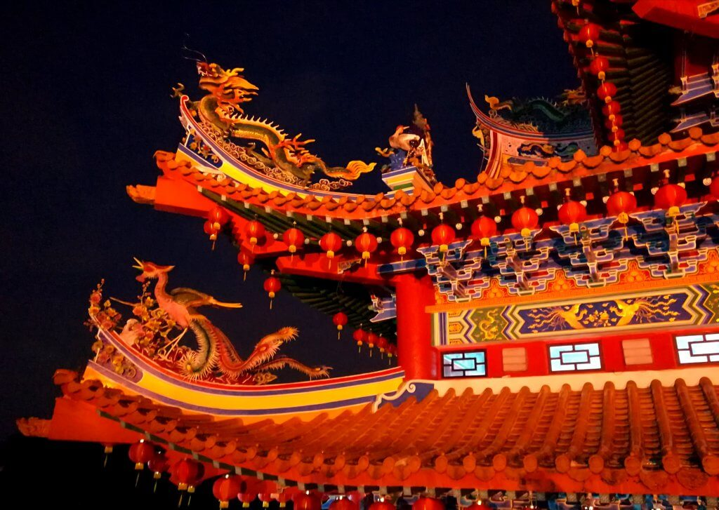 Chinesische Thean Hou Tempel in Kuala Lumpur, Malaysia.