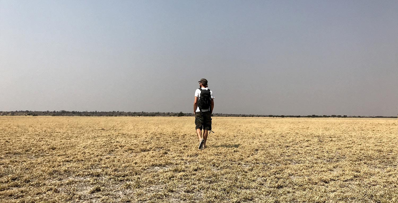 Kleiner Walk durch das Deception Valley im Central Kalahari Park, Botswana