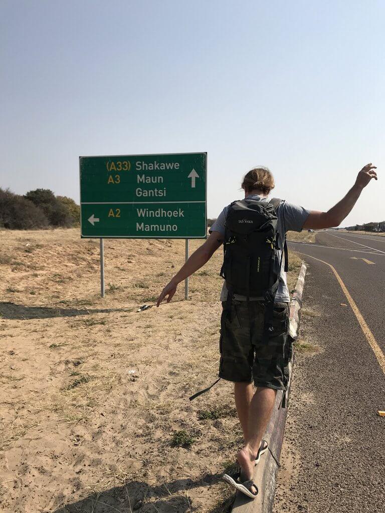 Der Trans-Kalahari Highway in Botswana
