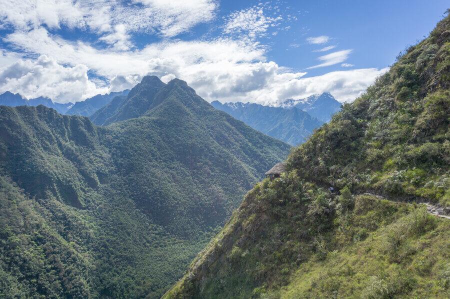 """Hütte am """"kurzen"""" Inka Trail in Peru."""
