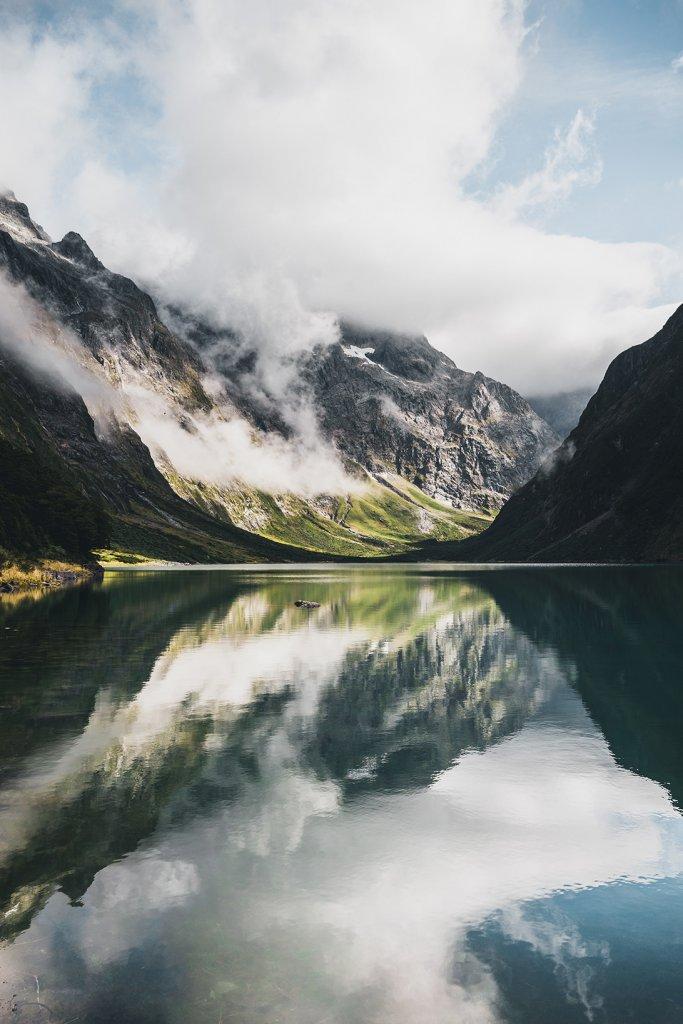 Roadtrip Neuseeland: Lake Marian im Fjordland-Nationalpark.