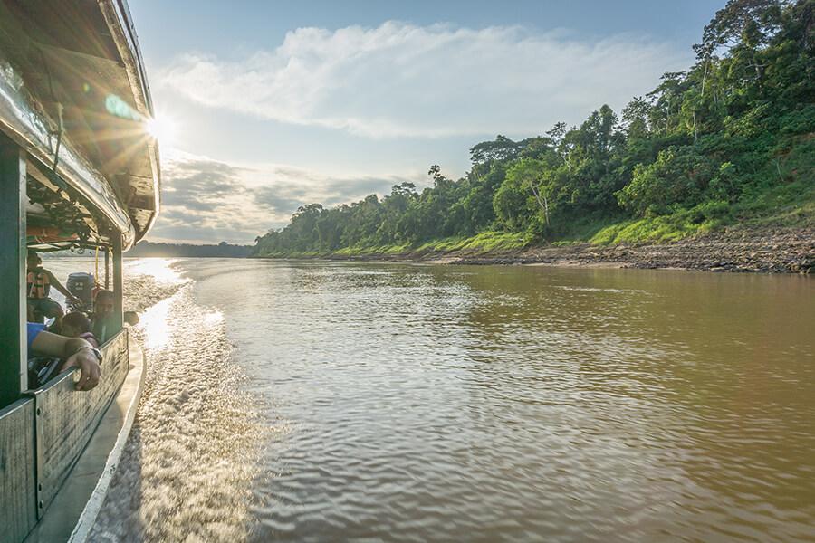 Bootsfahrt auf dem Amazonas rund um das Gebiet Puerto Moldonado.