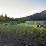 Yukon River Kanutour - Tatonka-Zelte am Ufer des Yukon.