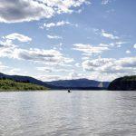Yukon River Kanutour - Kanu auf dem Fluss.