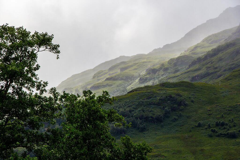 Trekking auf dem West Highland Way: Nebel ist ein ständiger Begleiter.