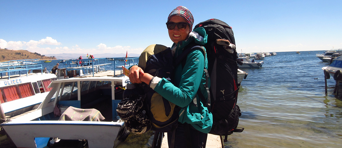 Melissa Gaus bei ihrem Backpacking-Trip durch Bolivien.