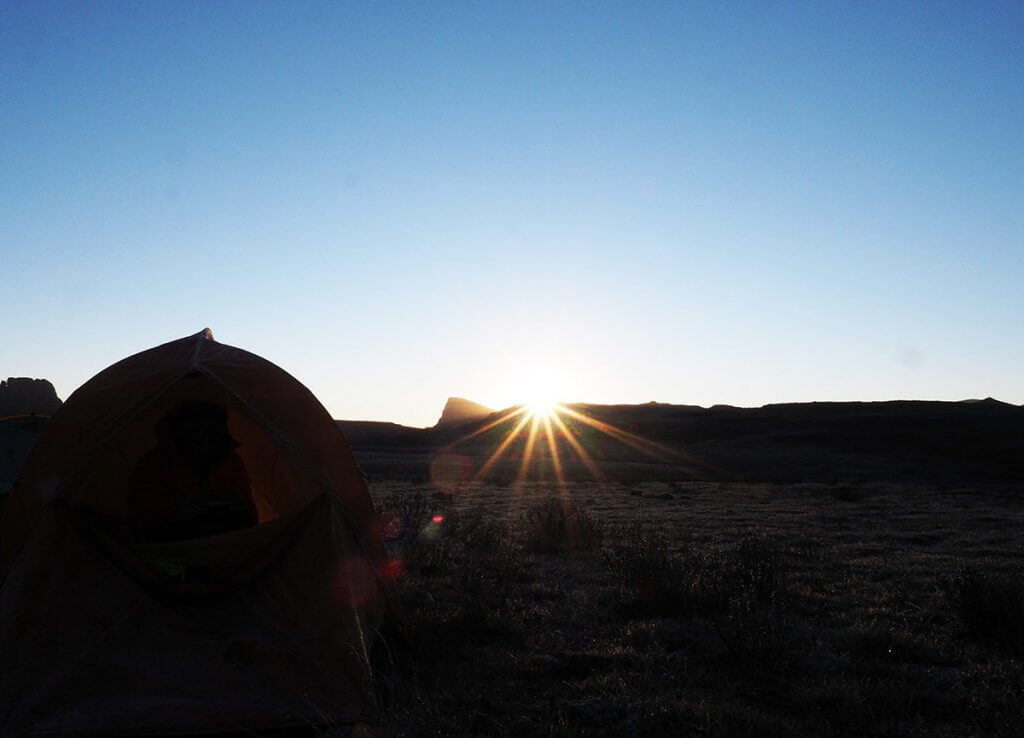 Sonnenuntergang in den Drakensbergen.