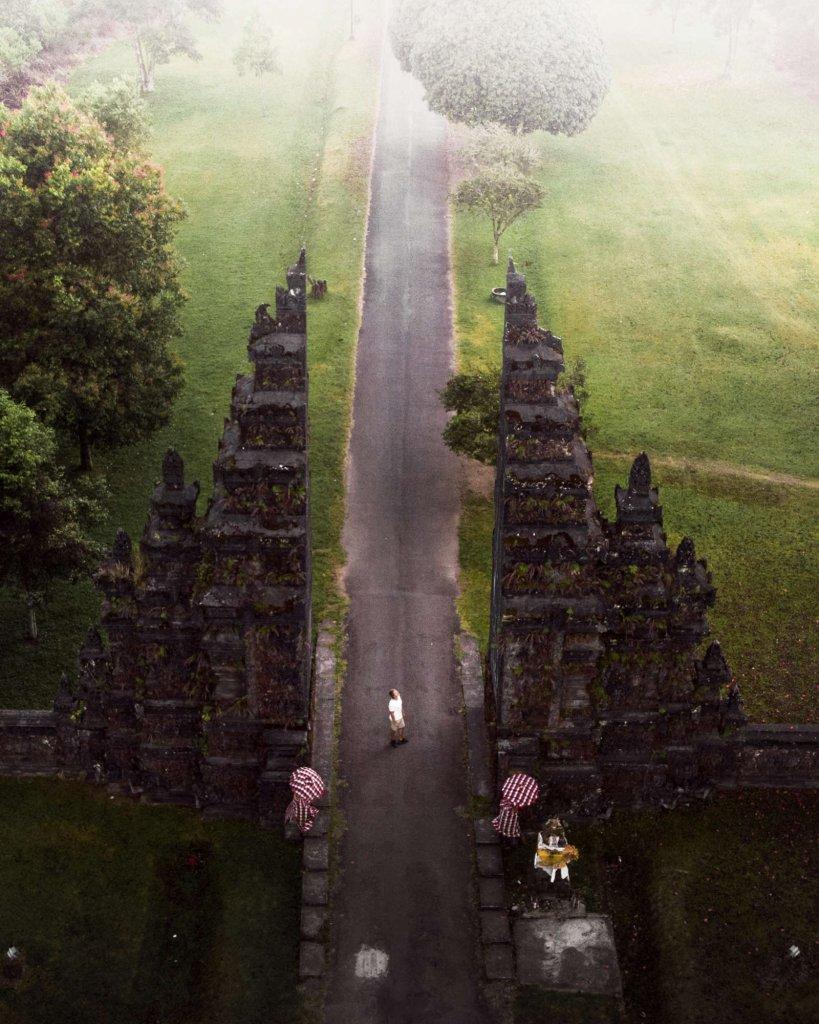 Handara Gate Jalan Raya Singaraja auf Bali, Indonesien.