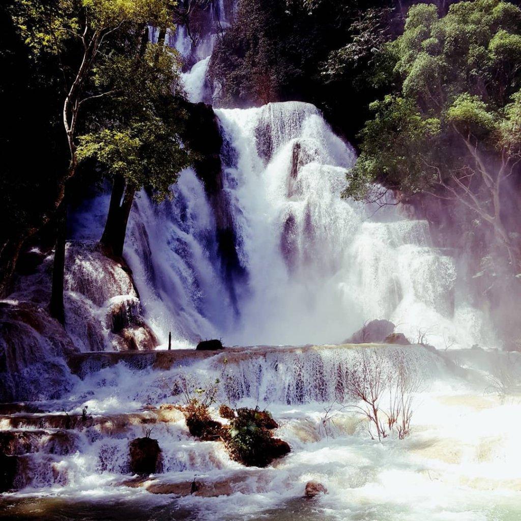 Wasserfall in Luang Prabang, Laos.