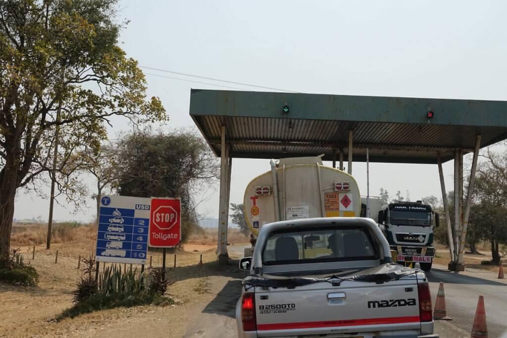 Mautstation in Simbabwe.