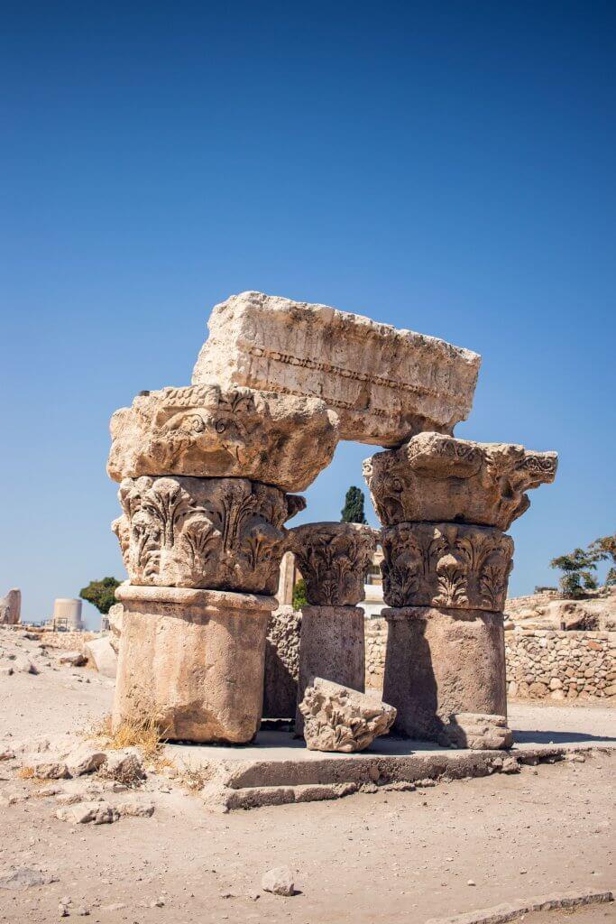 Ruinen am Tempel des Herkules in Jordanien.