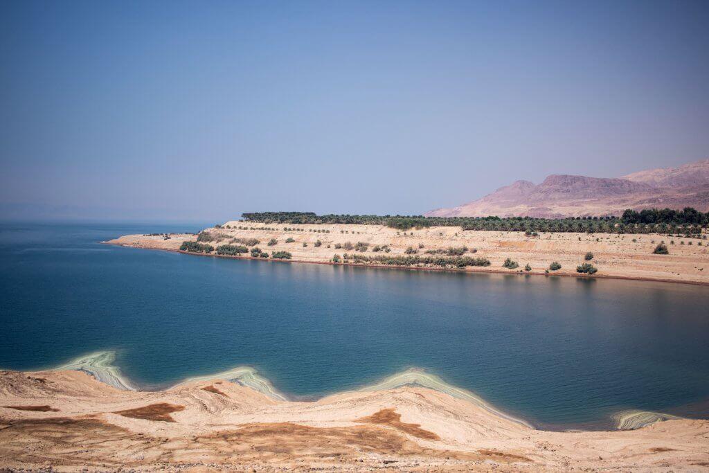 Blick auf das Tote Meer in Jordanien.
