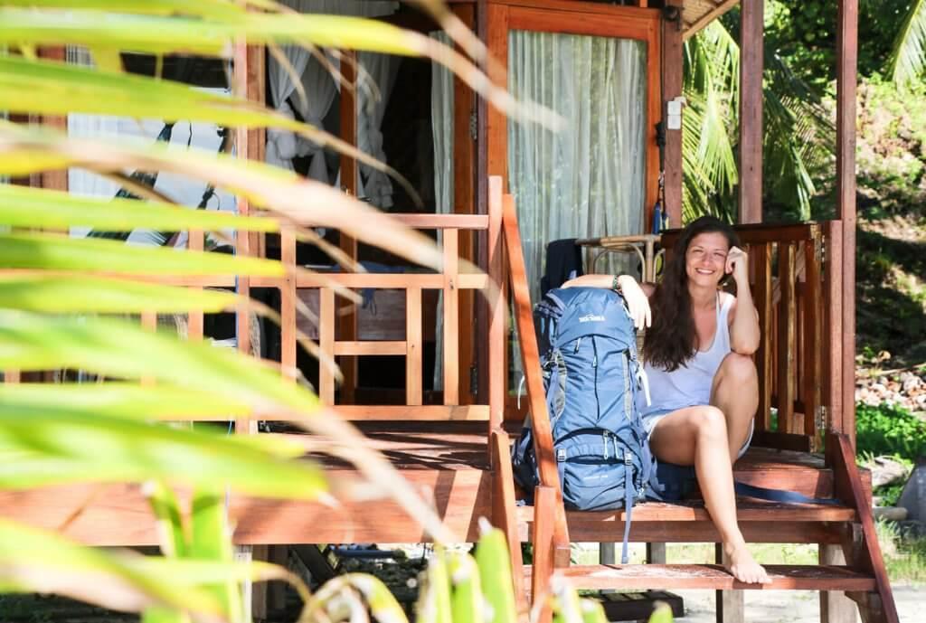Strandbungalows: keine Seltenheit auf den Togian Inseln.