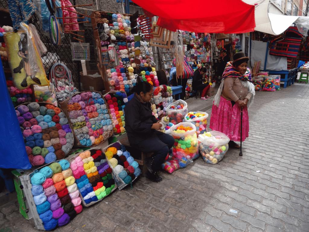 Stand auf dem Hexenmarkt in La Paz.