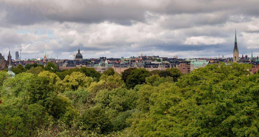 Blick auf Stockholm.