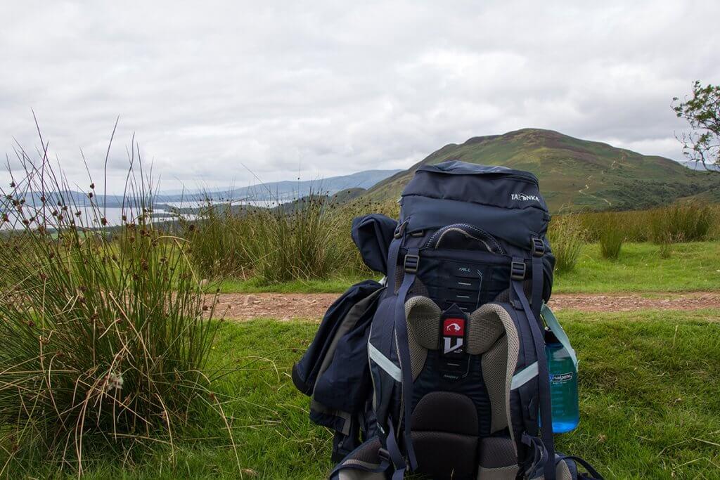 Treuer Begleiter auf dem auf dem West Highland Way: Der Trekkingrucksack Tatonka Yukon.