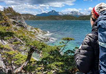 Trekking in Patagonien. Katrin in Chile.