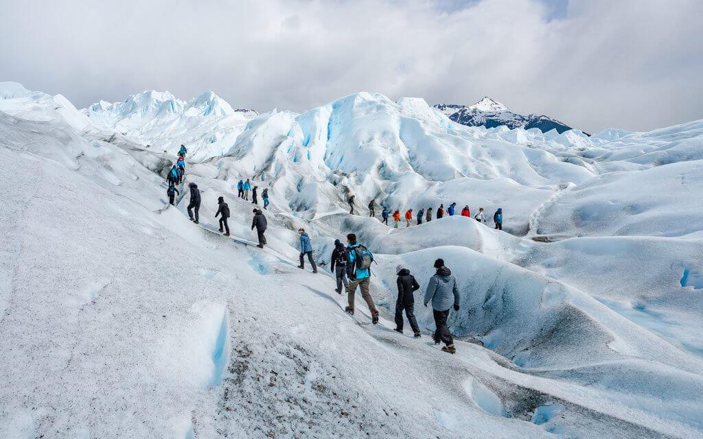 Gletscherwanderungen am Perito Moreno.