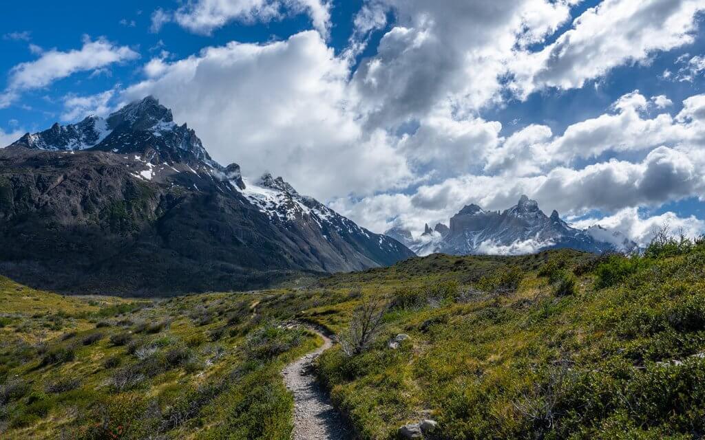 Trekking-Pfad im Valle Frances.