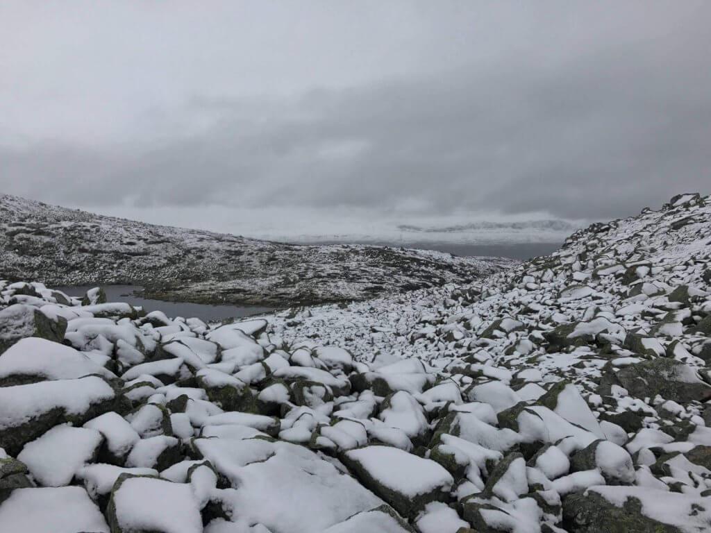 Schneelandschaft in der Hochebene Hardangervidda