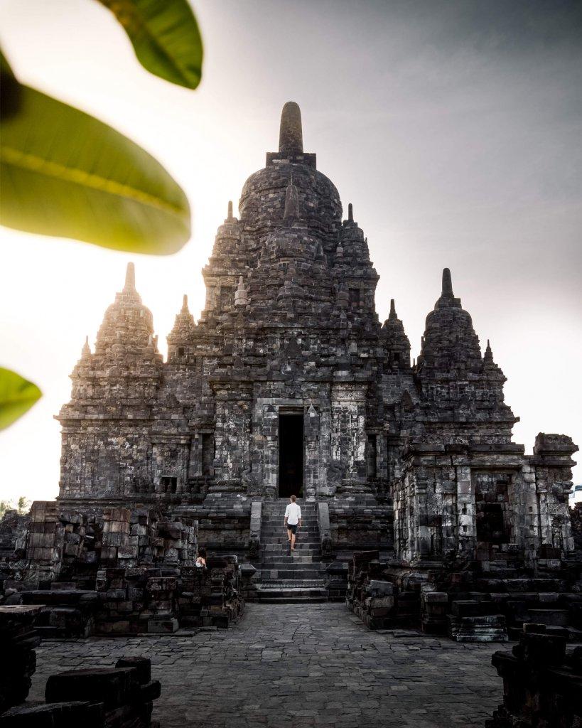 Tumba Sewu Tempel in Zentral Java, Indonesien.