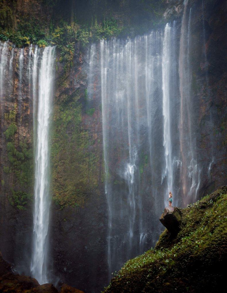Tumba Sewu Wasserfall Ost-Java, Indonesien.