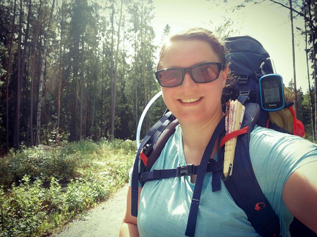 Johanna unterwegs mit ihrem Tatonka Rucksack.
